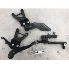 2010-2014 S1000RR Alpha Racing footrests