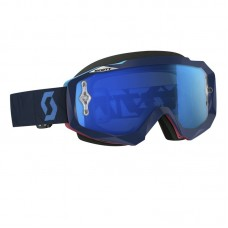 Scott Goggle Hustle MX angled blue/pink, electric blue chrome Works lens