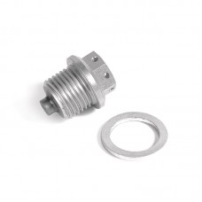 Magnetic oil drain plug racing