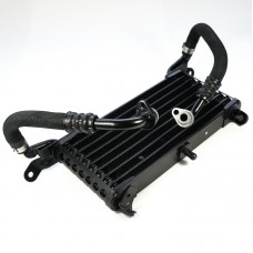 Oil cooler with hoses