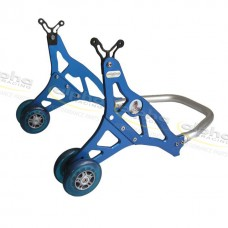 Rear stand aluminium, blue