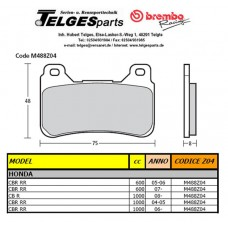 Brembo Pure Racing-Brake Pads Z04, front, M488Z04