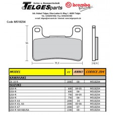 Brembo Pure Racing-Brake Pads Z04, front, M518Z04
