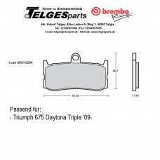 Brembo Pure Racing-Brake Pads Z04, front, M5510Z04