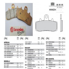 Brembo Pure Racing-Brake Pads Z04, front, M568Z04