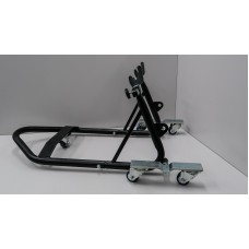 Adjustable rolling rear stand